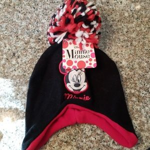 Minnie Mouse Size 4-16 Pom Hat